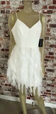 Aidan by Aidan Mattox Womens Dress Size 10 Feathered Textured Special Occasion