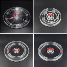 1pc 10/12.5/15/20cm Acrylic Transparent Rotating Turntable Display Accessories