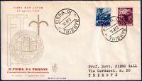"AMG-FTT - 1950 - ""Fiera di Trieste"" - F.D.C. VENETIA - non viaggiata - nn.81/82"