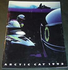 1992 ARCTIC CAT SNOWMOBILE SALES BROCHURE 40+ PAGES  NICE