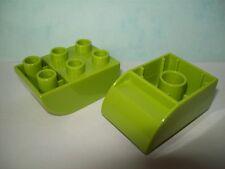 LEGO DUPLO 2 Stück 6er Negativsteine negative Steine hellgrün NEU