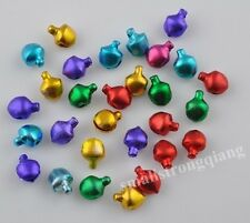 400 Pcs Mixed color Christmas Ornaments Jingle Bells Beads Charms Findings 6mm