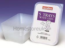 5 PLASTICA MASTELLI Dish VASSOI CONTENITORI CON COPERCHI Congelatore storer Storage 2002