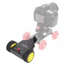 Movo DMA100 Motorized Push Cart for Table Top Video Camera Skater Dollies