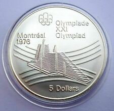 Canada 5 Dollars 1976 Silver coin UNC Olympic village Montreal Olympics 1976