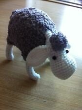 CROCHET DOLL SHEEP TOY HANDCRAFTED SOUVENIR GIFT DOLLHOUSE