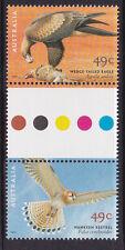 2001 Birds Of Prey (49c) - MUH Gutter Pair