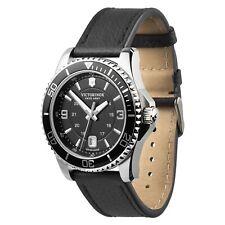 New in box Victorinox Maverick mens diving watch black leather RRP £420