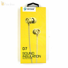 D7 In-Ear Headset Kopfhörer MIKROFON BASS Gold Hybird Ohrhörer POWER iPHONE 5S