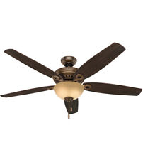 "Hunter Valerian 60"" Ceiling Fan, Bronze Patina Finish, Model 54061 w/Light"