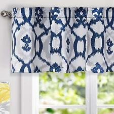 "DriftAway Evelyn Floral Pattern Window Curtain Valance, 52""x18""(Navy/Blue)"