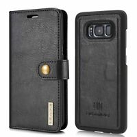 Samsung Galaxy S8 Plus Case, Genuine Leather Wallet Flip Case for Men & Husband