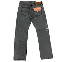 Levis Premium 501 '93 Straight Big E Button Fly Jeans 34x30 Leather Patch Strong