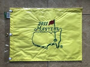 2011 MASTERS FLAG Golf Pin Flag PGA Official Embroidered
