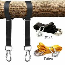 More details for garden tree hammock swing straps rope hanging kit carabiner hook fitting 1.5 m