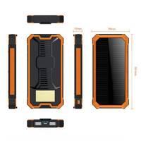300000mAh Portable Solar Panel 2-USB Phone Battery Charger Power Bank Waterproof
