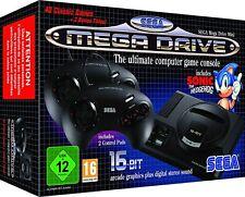 SEGA MEGA DRIVE MINI RETRO GAME CONSOLE inc 42 GAMES + 2 CONTROL PADS
