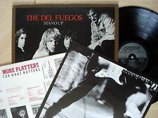The Del Fuegos Stand Up + Inner + Insert A//1 B//1 UK LP SLAP 20 1987 EX/NM
