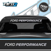 Ford Fiesta Sunstrip ST Ford Performance Zetec  Sun Strip Decal FREE P&P Silver