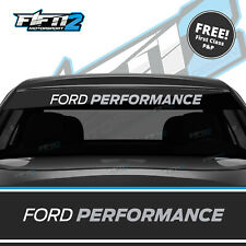 Ford Fiesta Sunstrip ST Ford Performance Zetec Sun Strip Decal FITS ALL Silver
