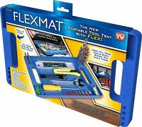 Flexmat: FlexibleTool Box Organizer Tray Non-Slip Ultra Durable Silicone Hex Bit