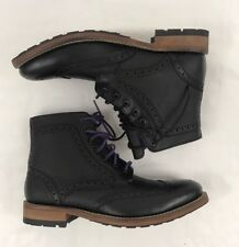 New Mens Ted Baker Sealls 2 Boots Sz7  Black Leather Wingtip High Top Purple #12