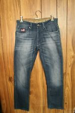 (GENUINE) US Polo Assn Blue Jeans WOODY SLIM STRAIGHT Mens Size W32 x L34