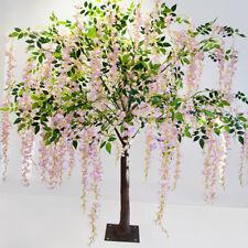 Rosa Seda Artificial elemento 170CM Wisteria árbol Decoración de Boda Decoración