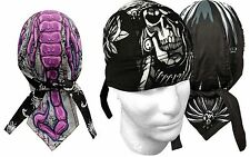 Lot of 2  Biker Do Doo Du Rags Head Wrap Skull Cap Capsmith New