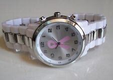 Women's Breast Cancer Awareness Pink Ribbon Fashion Watch