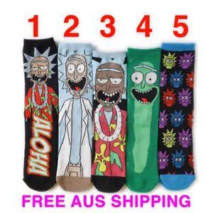 Rick And Morty Socks Unisex Novelty Socks Funky Cartoon Socks Gift Idea