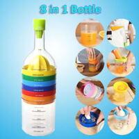 Multifunctional Kitchen Tool Bottle Shape Squeezer Grater Gadget Grinder 8 In 1