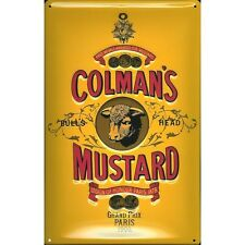 Colman's Mustard Vintage Advertising Kitchen Cafe Medium 3D Metal Embossed Sign