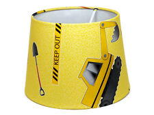 Digger Lampshade Ceiling Light Shade Boys Kids Construction Bedroom Nursery Gift