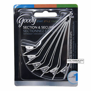 Goody Section & Secure 6 PCS (Item#: 03697) Aluminum Sectioning Clips