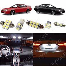 8x White LED lights interior package kit for 1997-2001 Honda Prelude HL1W