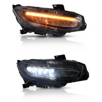 LED Headlights DRL Projector Fit For Honda Civic 10Th GEN 2016-2018 Head Lamp