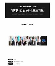 UNDER NINETEEN UNDER 19 OFFICIAL GOODS PHOTO CARD PHOTOCARD SET FINAL VER. NEW