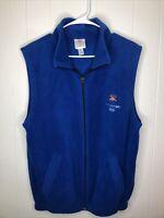 Salt Lake City 2002 Olympic Winter Games Official Blue Fleece Vest M