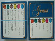 Trivial Pursuit Genus Edition 100 Cards 600 questions Trivia Quiz by Parker 1983