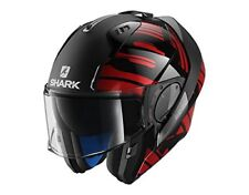 Casque modulable Shark Evo-one 2 Lithion Dual M Black Chrom Red