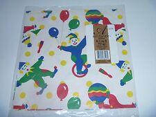 VINTAGE ARTFAIRE CLOWNS BALLOONS GIFT WRAP PAPER SCRAPBOOKING CRAFTS NIP