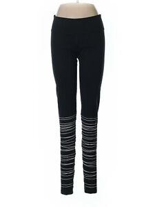 Women Old Navy Active Go Dry Black White Stripes Athletic Leggings L Tall