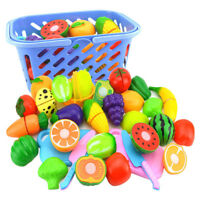 24X Kitchen Pretend Play Toy Fruit Vegetable Cutting Toy Simulation Food New