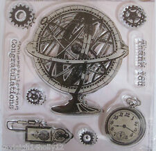 PAPERMANIA~CHRONOLOGY CLEAR STAMP SET~9 STAMPS~CRAFT~CARDS~SCRAPBOOKING~ART