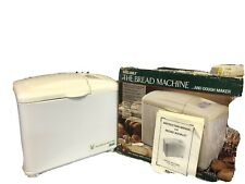 Welbilt Abm2100 The Bread Machine Bread Maker, 1lb loaf, with original box