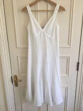 Gerard Darel White Linen Dress Size 36 Hobbs Jigsaw