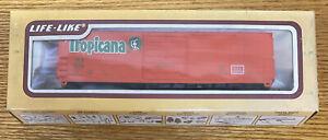 Life-Like Bev-Bel HO No.8414 50' Evans S/D Tropicana Boxcar !!