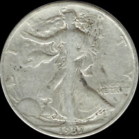 "A 1937 P Walking Liberty Half Dollar 90% SILVER US Mint ""Average Circulation"""