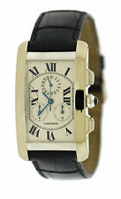 Cartier Tank Americaine Chronograph 18K White Gold Watch 2312